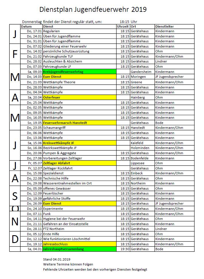 Dienstplan-jf-2019